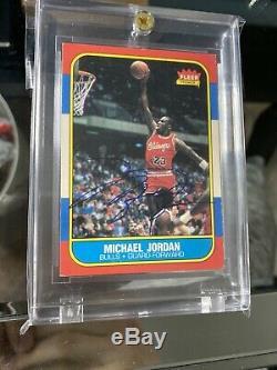 1986-87 Fleer Basketball #57 Michael Jordan RC Rookie HOF Signed AUTO UDA COA