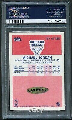 1986 Fleer Michael Jordan Autograph Rookie UDA PSA 9 AUTO Upper Deck Auth RC