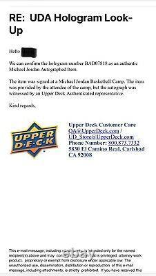 1988-89 Fleer #17 Michael Jordan Autographed Card Beckett Upper Deck UDA Auto