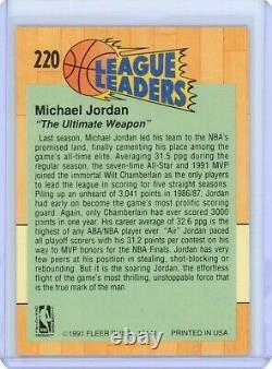 1991 Fleer #220 Michael Jordan Autographed On Card Auto! Beckett Upper Deck UDA
