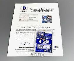 1998 Peyton Manning John Elway Rookie Auto Upper Deck Uda Bgs Autograph