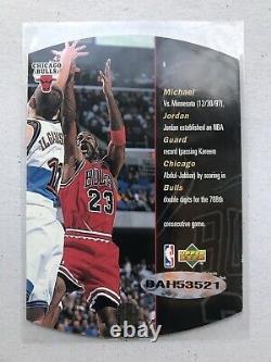 1998 Upper Deck SPX Michael Jordan Autograph W UDA Sticker Auto Rare PSA Ready