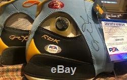 1/1 Iverson sample used nuggets PE shoes PSA Jersey signed uda upper deck jordan