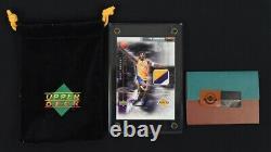 2001 Upper Deck Game Jersey Kobe Bryant 3-CLR PATCH AUTO 8/100, UDA COA 1/1