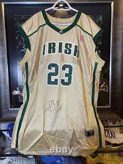2002-03 LeBron James UDA Signed Game High School Jersey SVSM First edition