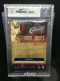 2003-04 Upper Deck LeBron James 4x6 Rookie Autograph Auto #16/50 BGS 8/10 UDA BN