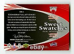 2006-07 Michael Jordan LeBron James Game Used Dual Patch /199 Sweet Shot UD UDA