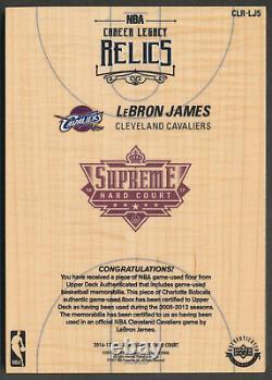 2017-18 UDA Supreme Hard Court LEBRON JAMES NBA Career Legacy Relics Quad Patch