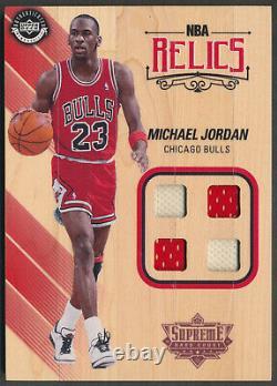 2017-18 UDA Supreme Hard Court MICHAEL JORDAN NBA Relics Quad Jersey Patch MJ SP