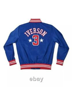 Allen Iverson Signed Auto Stadium Jacket The Answer Roots of Fight #4/20 UDA