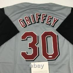 Autographed/Signed KEN GRIFFEY JR. Cincinnati Grey Jersey Upper Deck UDA COA