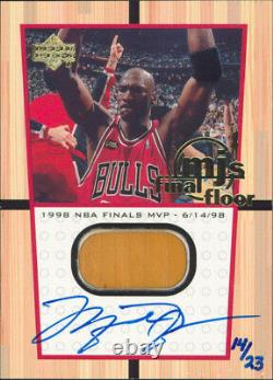 Bulls Michael Jordan Authentic Signed 1999 Upper Deck #FF11A Auto Card LE #14/23
