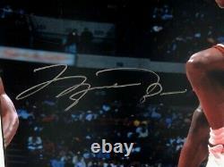 Bulls Michael Jordan Signed The Dish 16x20 Framed Photo UDA Limited /300 Auto