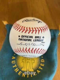 Chipper Jones Signed Autographed National League Baseball UDA Upper Deck COA