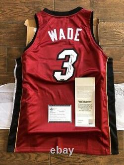 Dwyane Wade Autographed Red Miami heat Jersey Upper Deck Signed UDA COA