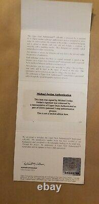 Framed Autographed Michael Jordan Jersey UDA w COA