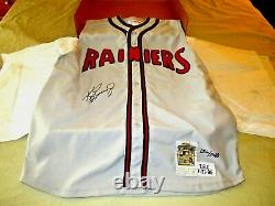 Ken Griffey Jr Seattle Rainiers Hof Signed Auto L/e Minor League Jersey Uda Box