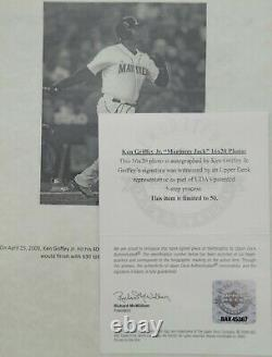 Ken Griffey Jr. Signed 16x20 UDA Numbered Auto /50