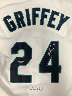 Ken Griffey Jr. Signed Jersey #24 Baseball Seattle Mariners GG HOF Autograph UDA