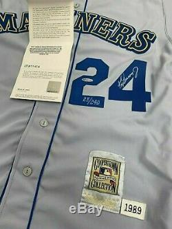 Ken Griffey Jr. Upper Deck Authenticated Uda Signed 1989 Rookie Jersey 23/240
