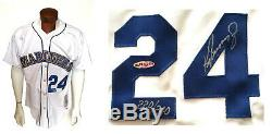 Ken Griffey Jr signed 1989 M&N Rookie Mariners jersey mint auto UDA COA /240
