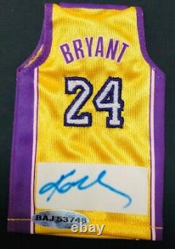 Kobe Bryant 2007-2008 Upper Deck Mini Jersey Uda Lakers Autograph Auto