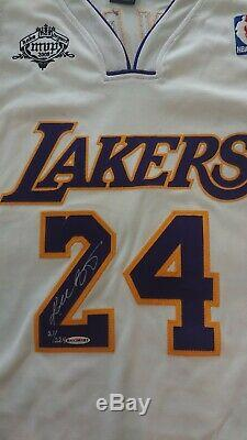 Kobe Bryant #24 signed 07/08 NBA MVP jersey Upper Deck limited edition /224 UDA
