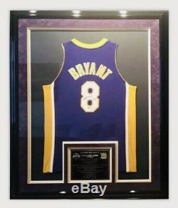 Kobe Bryant Authentic Signed Jersey #8 Framed UDA