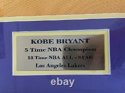 Kobe Bryant Autograph Signed Uda Upper Deck Hologram Jersey Auto Framed