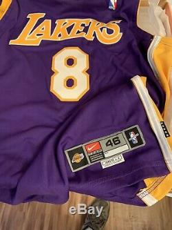Kobe Bryant Autographed Auto Signed Purple Jersey Lakers #8 Coa Uda
