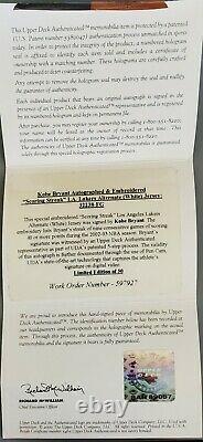 Kobe Bryant Signed Autographed UDA Jersey Scoring Streak #/50 Ultra Rare