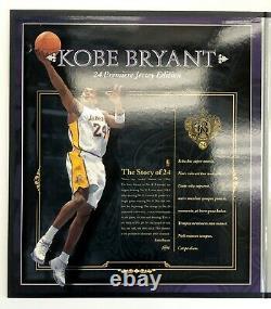Kobe Bryant Signed UDA White Lakers #24 Premier Jersey 18/24 Carpe Diem RARE