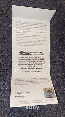 LAKERS LEBRON JAMES AUTOGRAPHED SIGNED UDA 16x20 FRAMED PHOTO-LIMITED 123