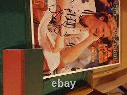Larry bird autographed. UDA. 2 AUTOS