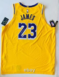 LeBron James Autographed Gold LA Lakers jersey signed Upper Deck UDA