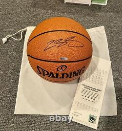 LeBron James Autographed Official Game Ball Basketball UDA Signed 1/10/2008 MINT