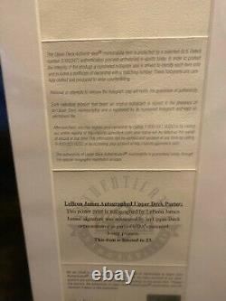 LeBron James-Canvas-UPPER DECK-Signed-7/23-Super Rare item-UDA Patented-beauty