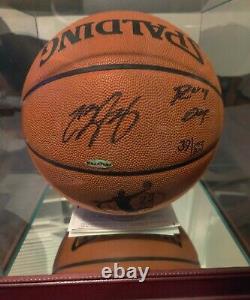 LeBron James Cleveland Cavaliers Autographed Inscribed 04 ROY Basketball UDA