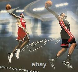 LeBron James Signed 10th Anniversary Auto 15x36 Upper Deck UDA Heat Cavaliers NR