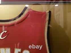 LeBron James Signed Autographed Framed Jersey Upper Deck UDA Cleveland Cavaliers