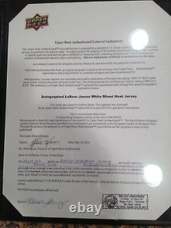 LeBron James UDA signed & framed jersey w COA