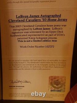 Lebron James #23 Signed 2003 Rookie Jersey Autographed Reebok Sz 52 UDA COA AUTO