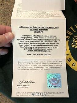 Lebron James Autographed Rookie Ball UDA#2/123, Michael Jordan, Lakers