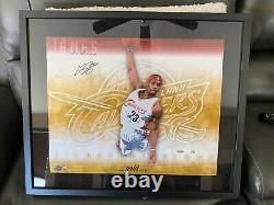 Lebron James Autographed Signed Oversized UDA Signature Slam Gold Photo #1/23