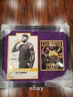 Lebron James Lakers Autographed Signed Framed Poster UDA