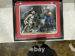Lebron James Professional Framed UDA Signed 16 x 20 Photo Auto Autograph 42 /106