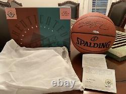 Lebron James Signed Spalding Official NBA Basketball UDA COA