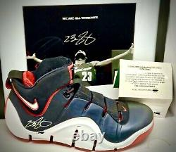 Lebron James Upper Deck UDA signed shoes with King James auto personalization