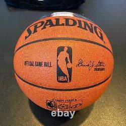Lebron James Witness Miami Chalk Toss Signed Basketball UDA Upper Deck 6/6