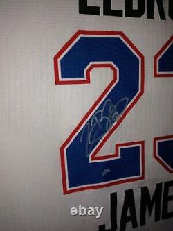 Lebron james autographed jersey upper deck uda
